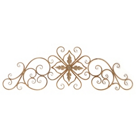 Sepia Scroll Metal Wall Art