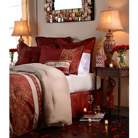 King Bella Red 8-pc. Comforter Set
