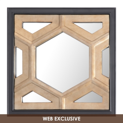 Hexicomb Decorative Mirror, 20x20