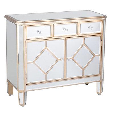 Manhattan Mirrored Wood Cabinet
