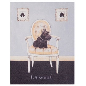 La Woof Scottie Canvas Art Print