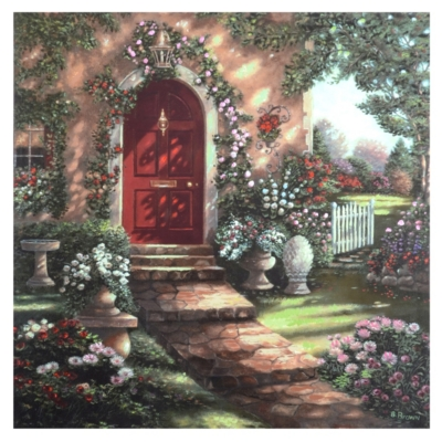 Flower Entrance Canvas Art Print