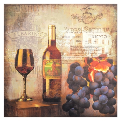 Wine & Grapes Canvas Art Print
