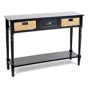 Black Storage Console Table