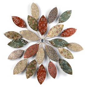 Botanical Flower Starburst Metal Wall Art
