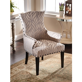 Taupe Leaf Amsterdam Arm Chair