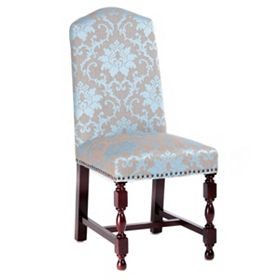 Blue Damask Amaranthine Parsons Chair
