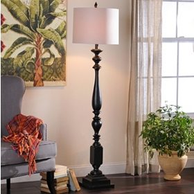 Glossy Espresso Floor Lamp