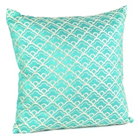 Cloudfall Teal & Ivory Pillow