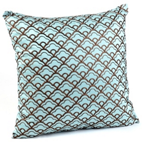 Cloudfall Blue & Chocolate Pillow