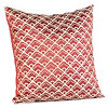 Cloudfall Crimson & Ivory Pillow