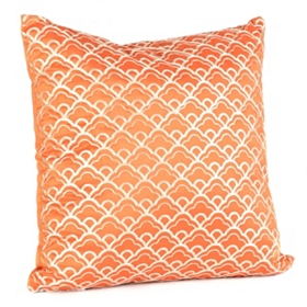 Cloudfall Orange & Ivory Pillow