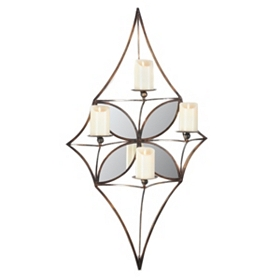 Mirror Diamond Wall Candle Holder