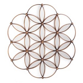 Mirrored Petals Metal Wall Art