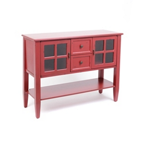 Red Elliot Console Table