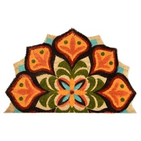 Floral Medallion Cutout Doormat