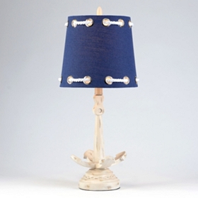 Navy Rope & Anchor Table Lamp