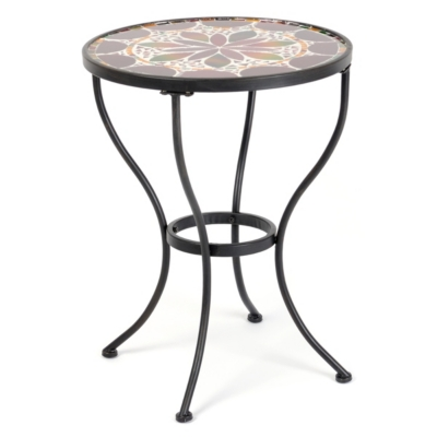 Flower Burst Mosaic Accent Table