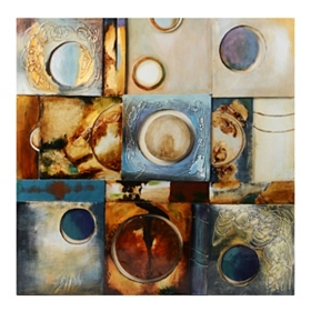 Circles Into View Canvas Painting