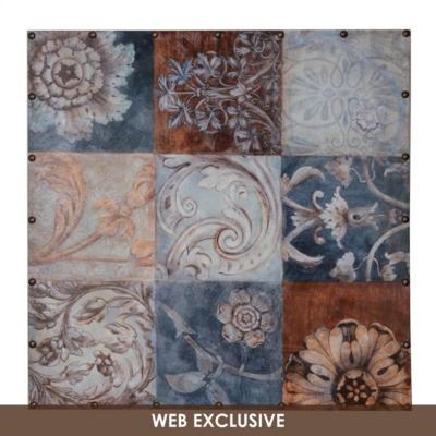 Antique Floral Patch Canvas Art Print