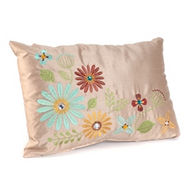Ariel Tan Floral Pillow