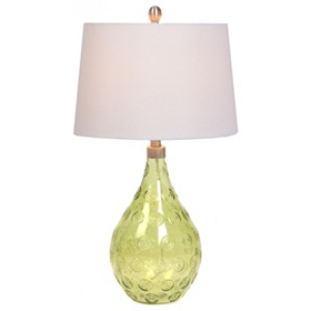 Pear Green Glass Table Lamp