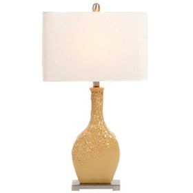 Mustard Ceramic Table Lamp