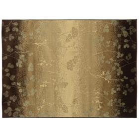 Darcy Ombre Brown Floral Area Rug, 5x7
