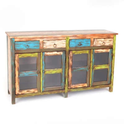 Sheldon Rustic Wood Cabinet