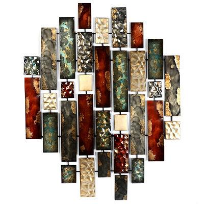 Metallic Bricks Wall Art