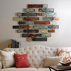 Metallic Bricks Wall Art