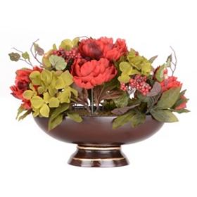 Hydrangea & Peony Brown Floral Arrangement