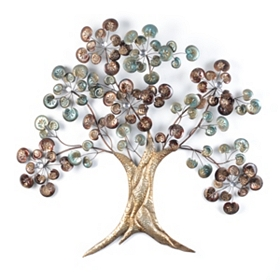 Metallic Tree Buds Metal Art