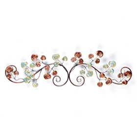 Metallic Buds Over The Door Plaque