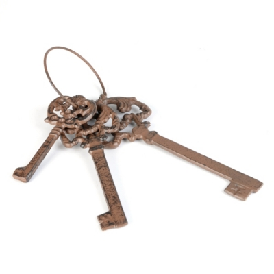 Cast Iron Keys On A Ring
