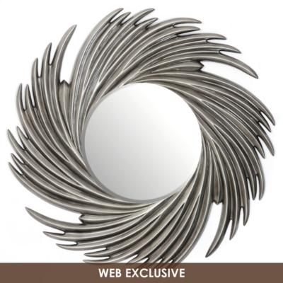Silver Swirl Wall Mirror