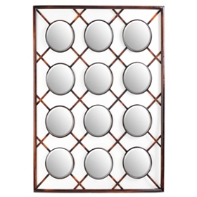 Criss Cross Wall Mirror, 32x40