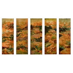 Victoria Canvas Art Print, Set of 5