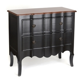 Black Bombe 2-Drawer Chest