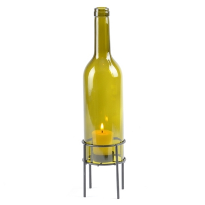 Wine Bottle Votive Holder