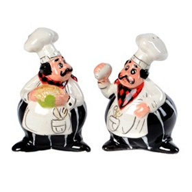 Chef Salt & Pepper Shaker Set