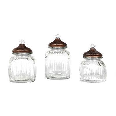 Clear Finial Glass Jar, Set of 3