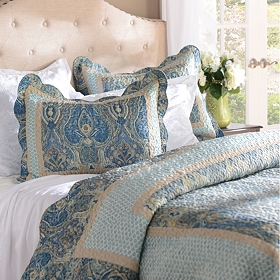 Blue Paisley 3-pc. Queen Quilt Set