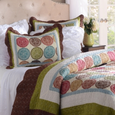 Spice Medallion 3-pc. King Quilt Set