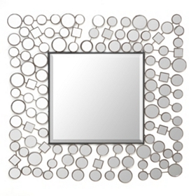 Deco Shapes Wall Mirror, 30x30
