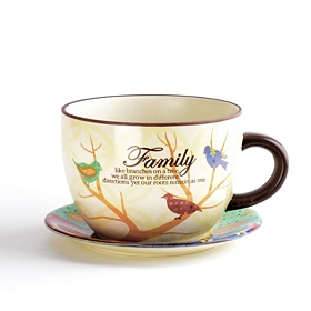 Family Tree Tea Cup Planter