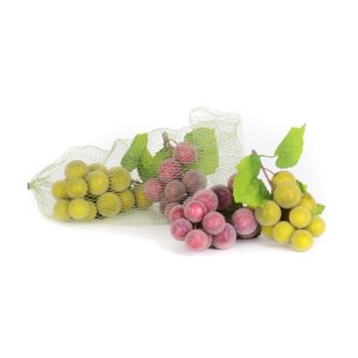Beaded Green & Purple Grapes, Set of 4