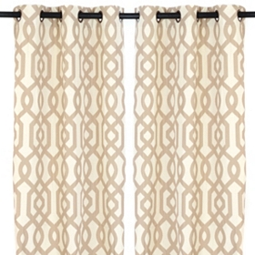 Taupe Gatehill Curtain Panels, 95 in.