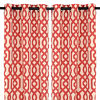 Red Gatehill Curtain Panel Set, 95 in.