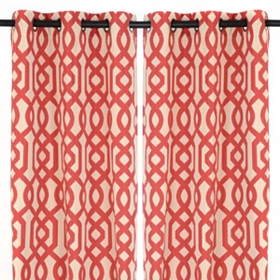Red Gatehill Curtain Panels, 95 in.